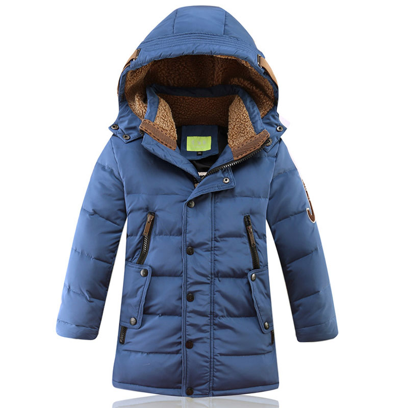 2017 Children Winter Jackets Boys White Duck Thick Warm Outerwear With Hooded