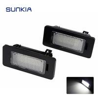 2pcs Set SUNKIA Super White 6000k Car LED Number License Plate Light Lamp Canbus For BMW