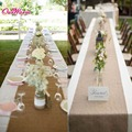 Wedding Ribbon Roll 10m*33cm Large Size High Quality Vintage Burlap Table Runners for Wedding Party Table Decorations 1pcs/lot