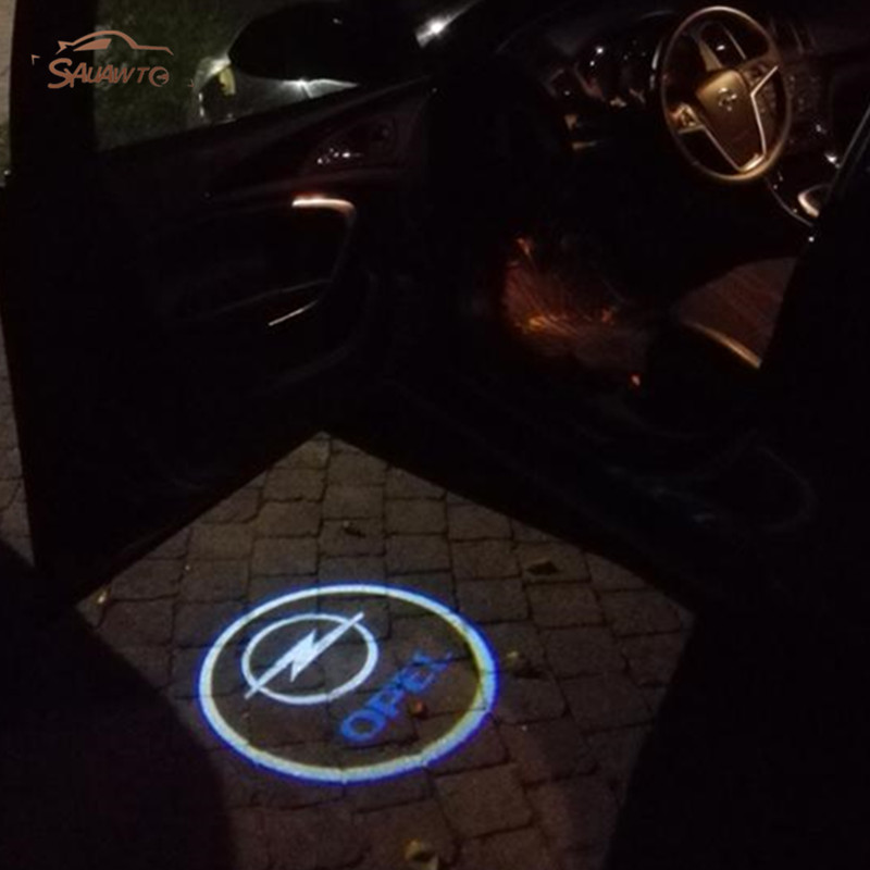 2X Car LED Door Welcome Logo Laser Projector Ghost Shadow Light For Opel Insignia 2x car led door welcome light for nissan logo projector ghost shadow light for nissan teana 2006 2012 patrol 2010 2014