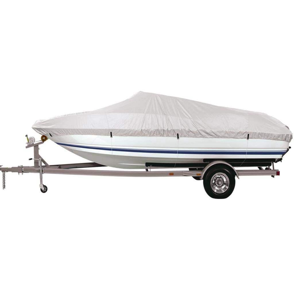 Couverture bateau couverture bateau remorque de pêche gris imperméable Ski-14ft à 16ft
