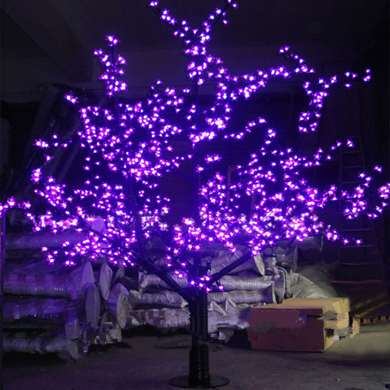 <font><b>1.5M</b></font> 1.8m Shiny <font><b>LED</b></font> Cherry Blossom Christmas Tree Lighting Waterproof Garden Landscape Decoration Lamp For Wedding Party Chrisma image