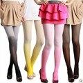 7 cores Ultra fino Gradiente de cor meia-calça de Veludo 80D calças justas mulheres sexy meias de seda calças justas calças justas moda