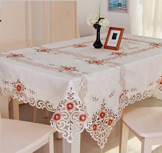 tc borde de encaje floral cubre para mesa de mantel bordado del estilo de europa de