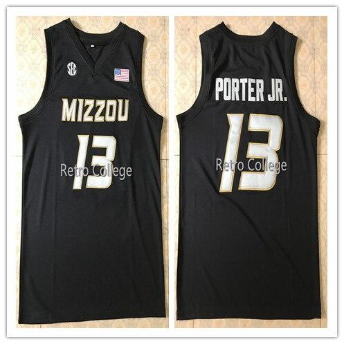 2018 Новый Миссури Тигры Колледж Баскетбол 13 Майкл Портер Jr. персонализированные любое имя число Возврат Джерси