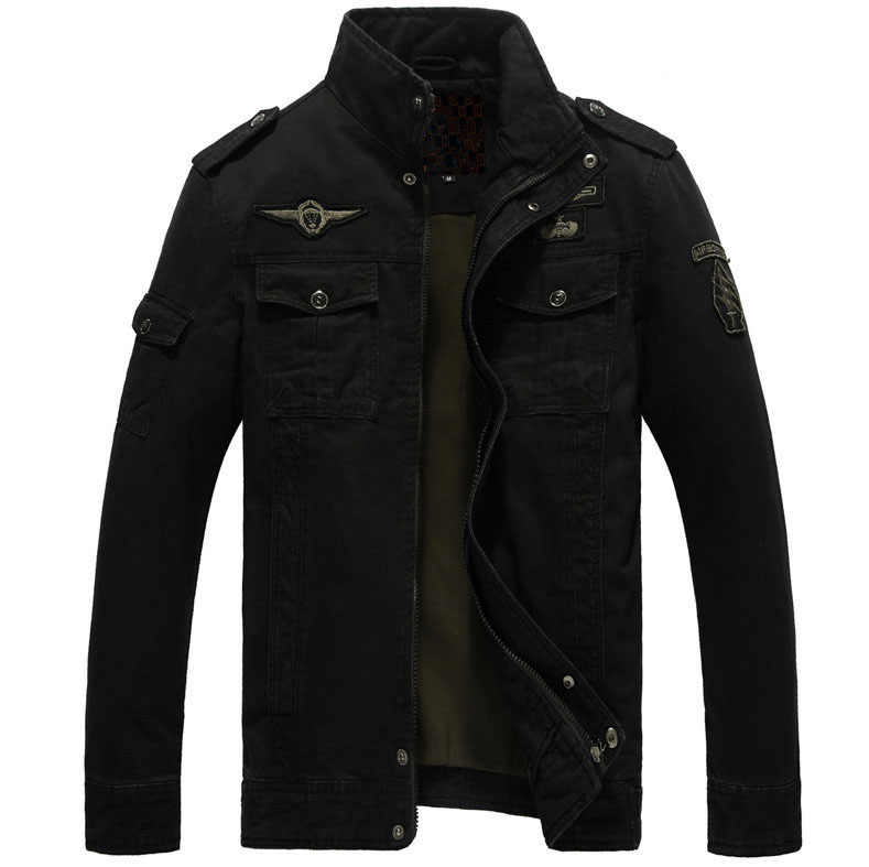 ボンバージャケット男スプリング秋のコート軍事生き抜くスタンド襟のジャケットの男 veste オム M-6XL