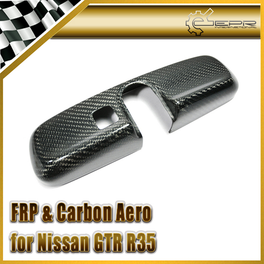 EPR Car Styling For Nissan R35 GTR Dry Carbon Fiber Room Mirror Cover (RHD Only) new 2pcs side mirror cover for nissan skyline r34 gtt gtr carbon fiber car accessories car styling