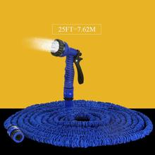 Hot Selling 25FT Expandable Magic Flexible Garden Water Hose Green Hose Plastic Hoses Pipe Without Spray Gun To Watering