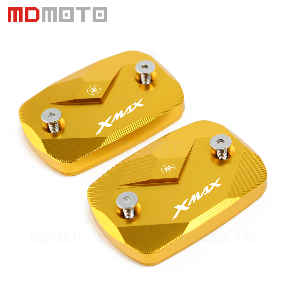 Motorcycle Accessories Fluid Reservoir Cover For YAMAHA XMAX 300 XMAX300 2017 2018 Motorbike Brake Fluid Tank Cap 5 color