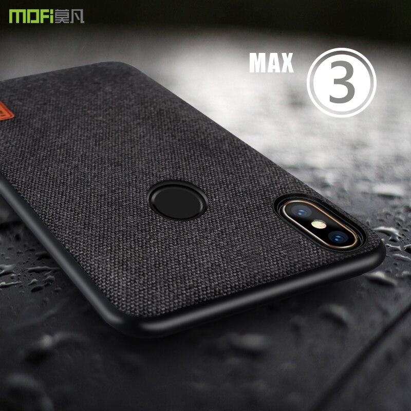 Para Xiao mi mi max 3 caso capa mofi MI max 3 tecidos Tampa Do Caso Mi max mi max3 3 pro borda de silicone Completo tampa Traseira do Caso 6.9''