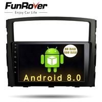 Funrover 9 2 din Car radio Player For MITSUBISHI Pajero V97 V93 2006 2015 dvd gps navigation Video usb wifi RDS EQ FM BT stereo