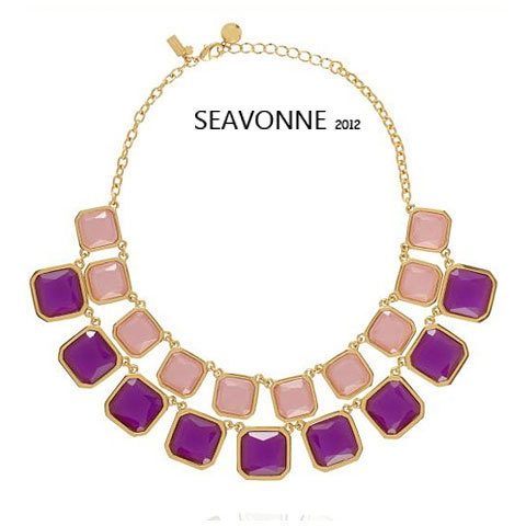 Freeshopping Fashion romantic color semi-precious metal crystal necklace jewelry dropshipping  N0148