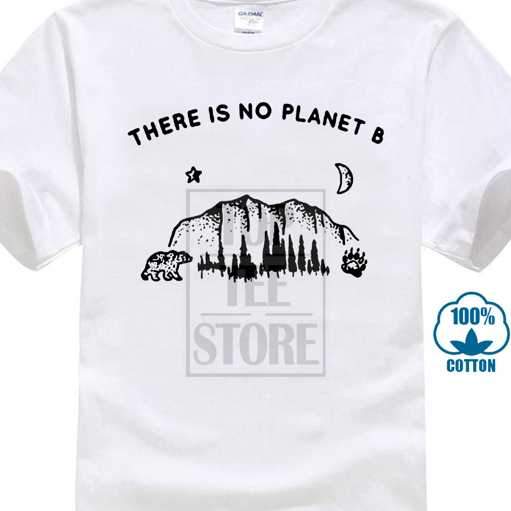 There Is No Planet B Cotton Soft   T     Shirt   White
