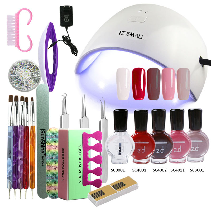 Kiss Salon Secrets Nail Art Pro Tool Kit Nsat01: Nail Art Pro DIY Full Set Peel Off Gel Polish Manicure