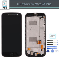Phone LCD Screen For Motorola Moto G4 Plus LCD Display Touch Screen Digitizer Assembly With Frame