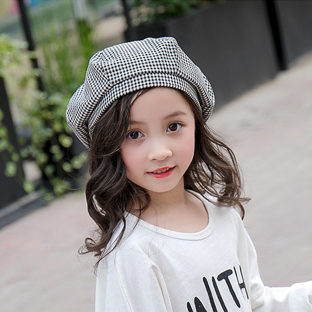 82f46d58d59 2018 Fashion Cotton Kids Baby Girl Boy Beret Black White Girls Winter Hat  Child Berets Hats