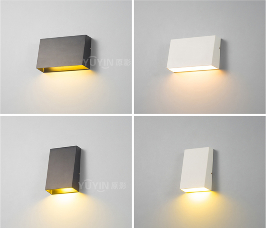 Modern outdoor wall lamp Waterproof Cube 3/6W COB Indoor LED Wall Light fixture Bathroom Lighting bedside lamp porch ZBD0077 new 120degree waterproof cube cob led light wall lamp modern home lighting decoration outdoor wall lamp aluminum 6w ac85 265v