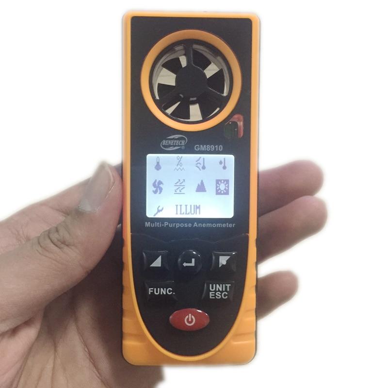 8in1 digitális LCD szélmérő barometrikus nyomás páratartalom - Mérőműszerek - Fénykép 5