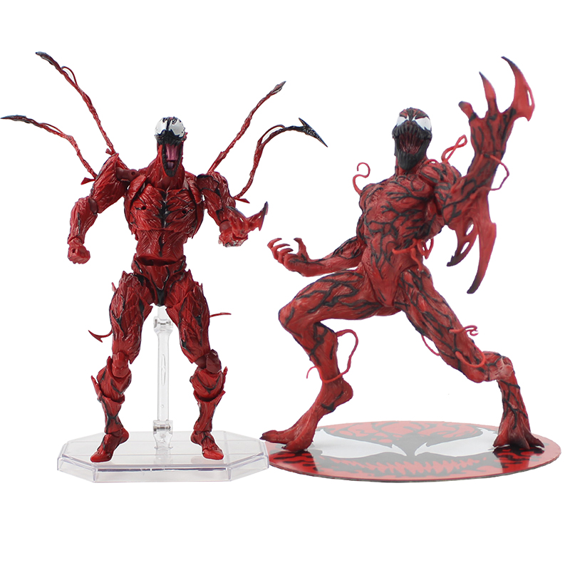 Marvel Carnage Red Venom No Revoltech Series PVC Action Figure Toys Kids Gifts