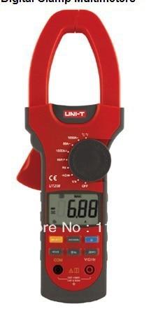 UNI-T UT208 LCD Clamp Digital Multimeter AC DC Voltage Amp Ohm Temp Tester uni t ut118a original lcd digital multimeter