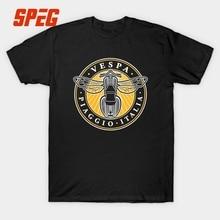 Vespa Motorbike T-Shirt Men's Casual Bee Design 100 Cotton Round Neck Custom Short Sleeve Boyfriend's Gift Big Size Party