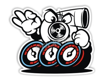 High Quality Cartoon Diy Turbo Car Sticker And Decals Cool Modified