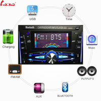 LaBo Bluetooth Autoradio Car Stereo Radio FM Aux Input Receiver SD USB ISO 9002 12V In dash 2 din Car MP3 Multimedia Player