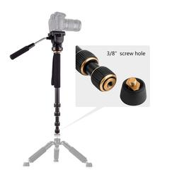 Q188 Portable Photography Video Lightweight Fluid Head Monopod for DSLR Camera