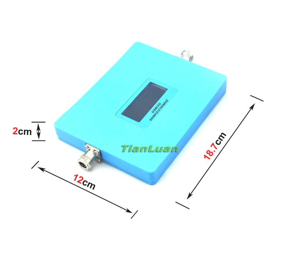 TianLuan affichage intelligent double bande téléphone Mobile 2G 3G Signal Booster GSM 900 mhz W-CDMA 2100 mhz Signal répéteur amplificateur ensemble complet - 3