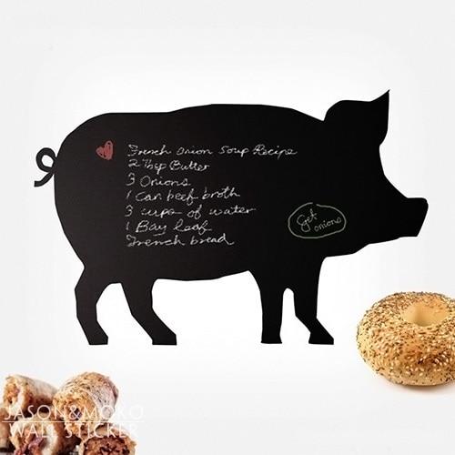 Animal Farm Wallpaper Diy Cute Piggy Pig Chalkboard Wall Stickers Children Baby