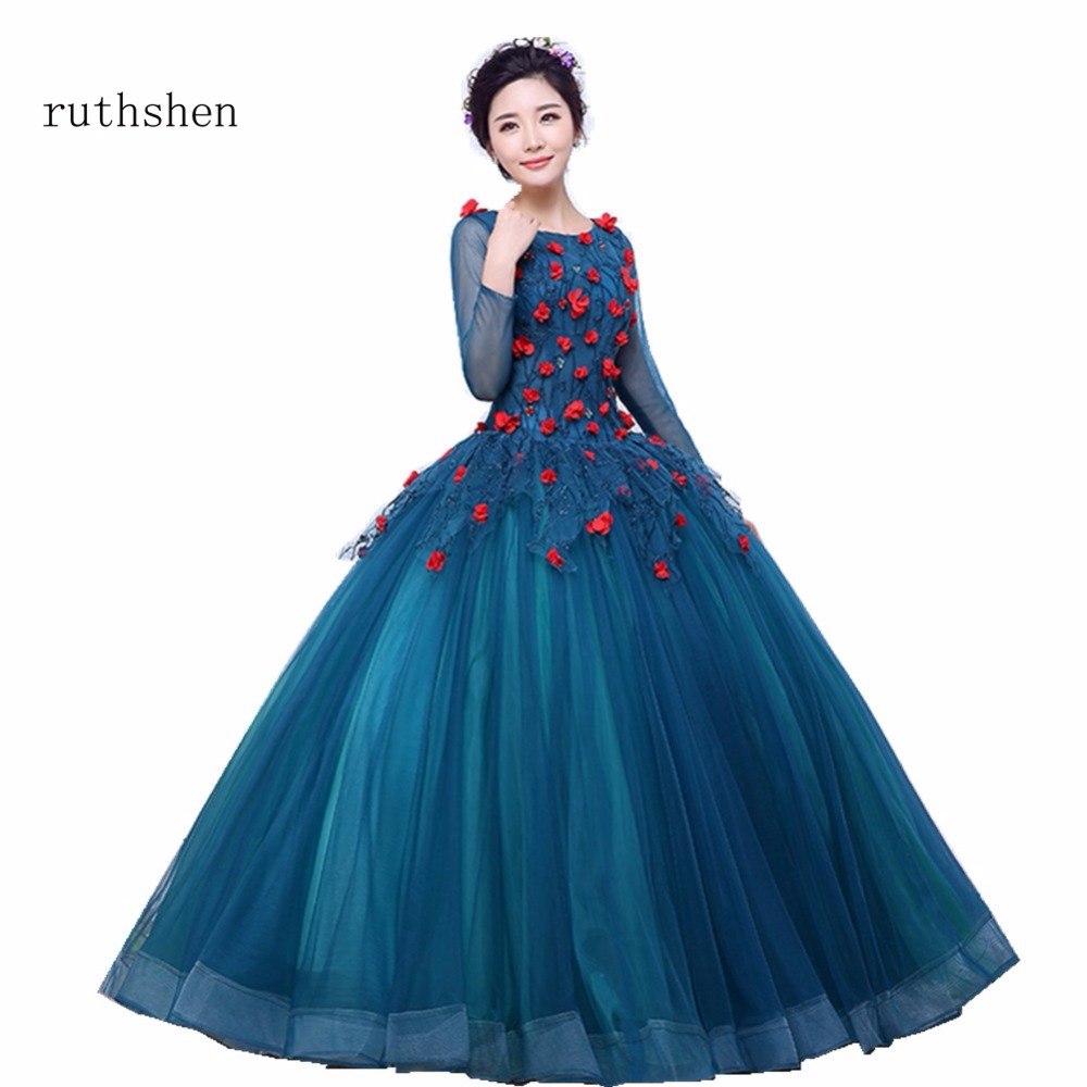 ruthshen 2018 Cheap Quinceanera Dresses Long Sleeves Ball Gown Sweet 16 Dress For 15 Years Formal Prom Vestido De Festa-in Prom Dresses from Weddings ...