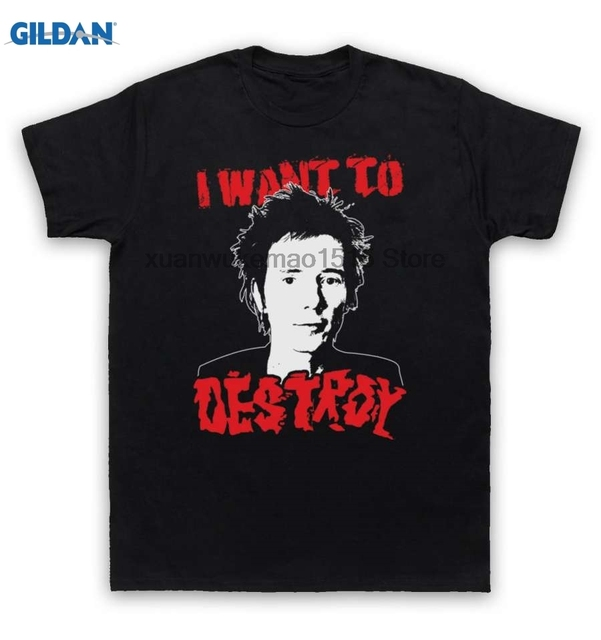 580247cec8d 100% Cotton O-neck printed T-shirt Sex Pistols T Shirt Anarchy In The UK  Destroy