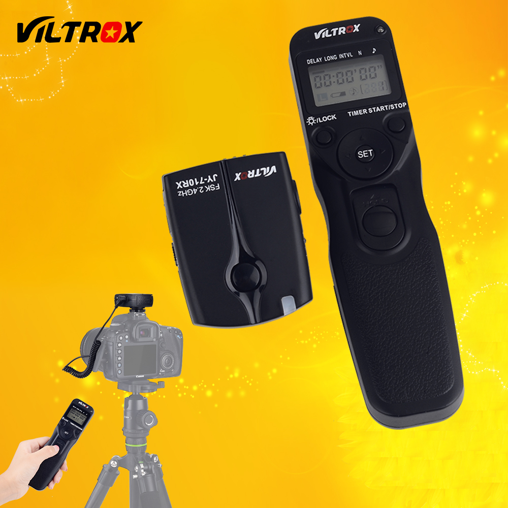 Viltrox JY-710-C1 Wireless LCD Interval Timer Remote Shutter Release for Canon 60D 77D 80D 600D 700D 650D 750D 1200D 1300D D800 все цены