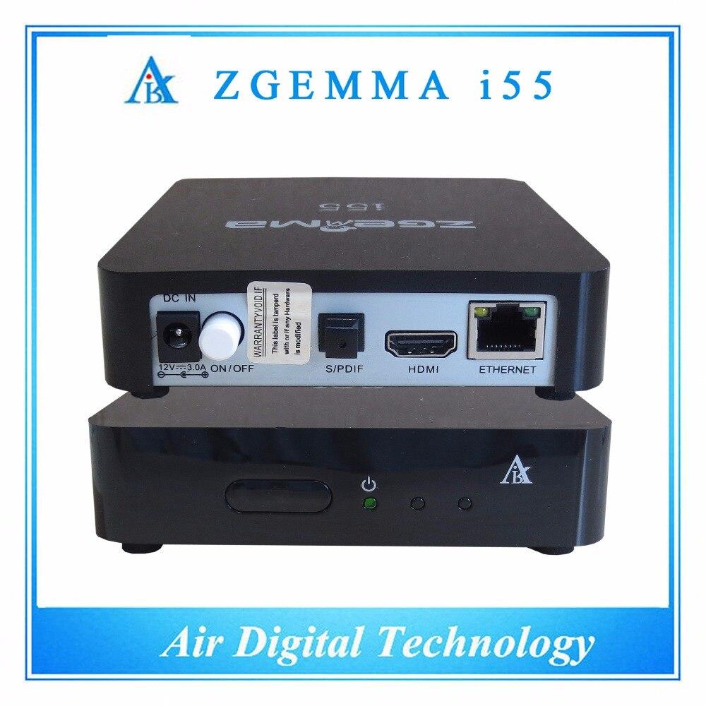10 unids/lote Nueva versión ZGEMMA Linux IPTV internet tv box soporte de reprodu