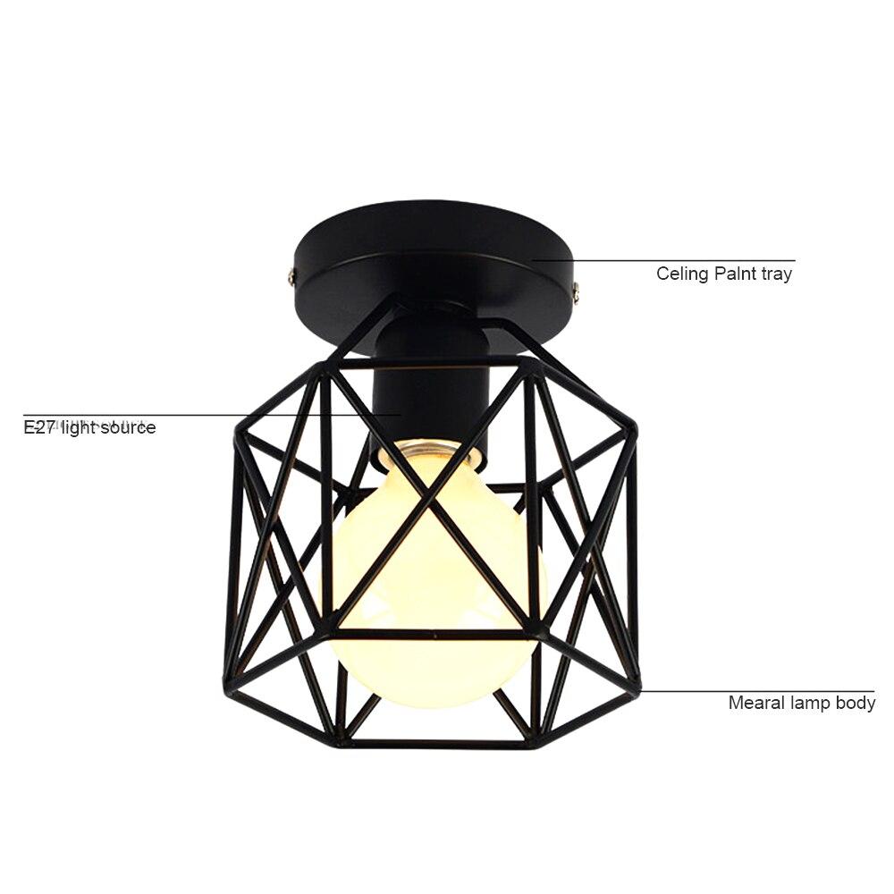 LED Ceiling Down Light Square Pendant Lamp Without Light Bulb LED Down Light Energy Saving Durable Kitchen Bedroom