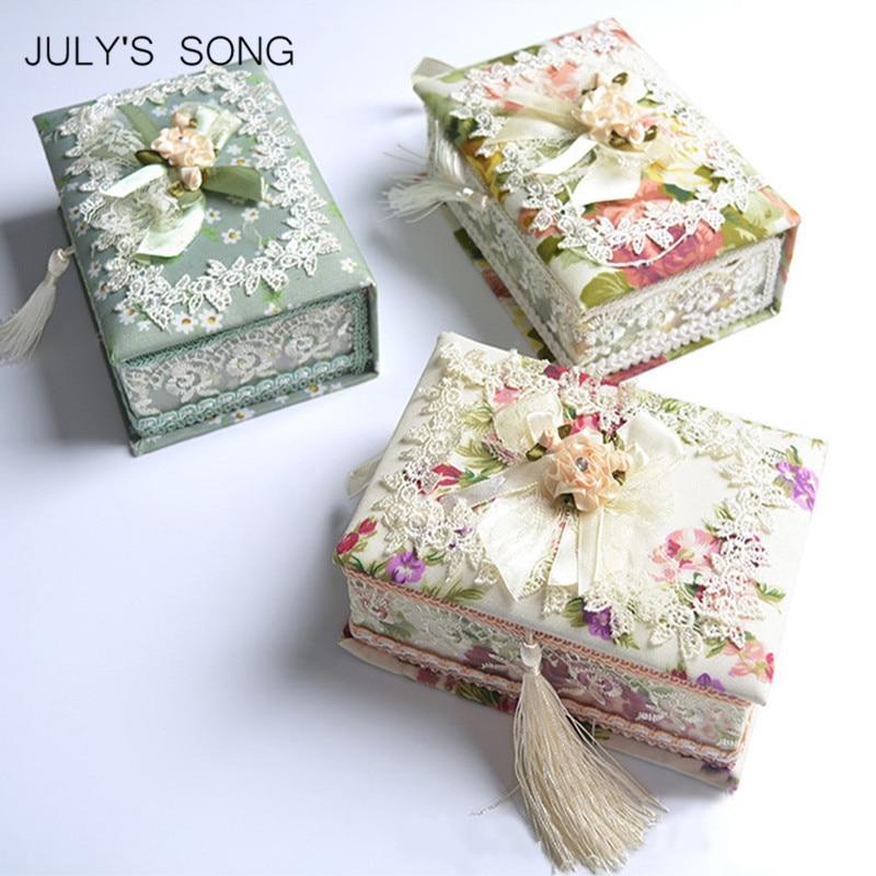 JULY'S SONG 1PC Organizator de bijuterii pastorale Caseta caseta de - Organizarea și depozitarea în casă