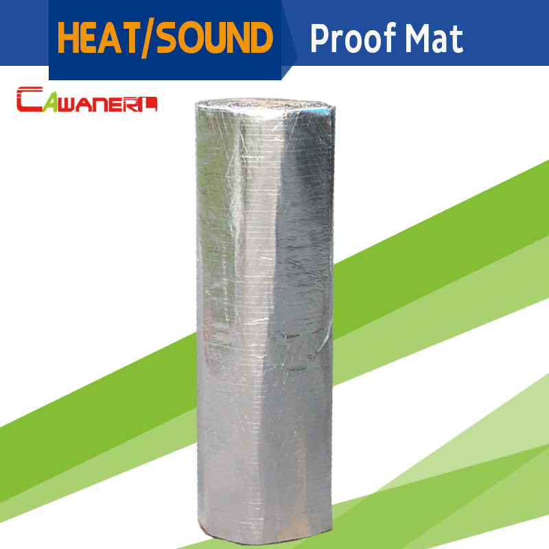 Cawanerl 1 rouleau 8sqm 800 CM X 100 CM voiture chaleur son bouclier isolation preuve tapis Pad Deadener pour pare-feu porte toit coffre plancher