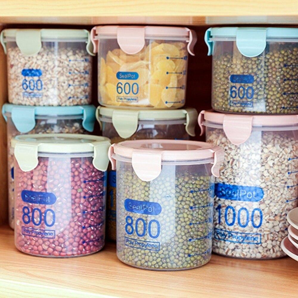 Practical Household Plastic Storage Jars Food Storage Bottle Safe