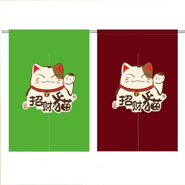 Us 1747 8 Offjapan Style Plus Kot Szczęście Kot Sushi Kawy Grill Restauracja Sklep Izakaya Yakiniku Dekoracji Kuchni Drzwi Pół Kurtyna Okładki W