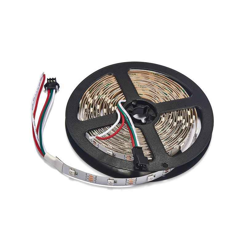 WS2812B LED Strip Wit PCB RGB Smart Pixel Strip 30 leds/m WS2812 IC Controle 5 m/roll niet Waterdicht DC5V