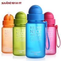 400ML Baby Water Bottle Kid Bottles With Straw Child Drinking Bottle For Water Sport Feeding Plastic