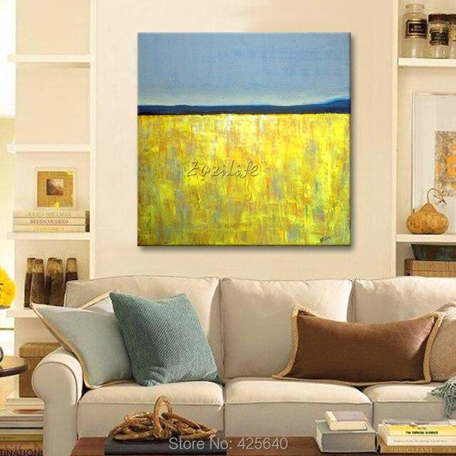 jaune gris acrylique peinture dcoration de la maison peinture lhuile sur toile hight
