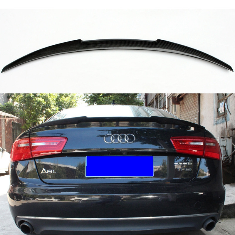 For Audi A6 C7 Spoiler Carbon Fiber Rear Spoiler Trunk Wing M4 2012 2013 2014 2015 2016 2017 yandex w205 amg style carbon fiber rear spoiler for benz w205 c200 c250 c300 c350 4door 2015 2016 2017