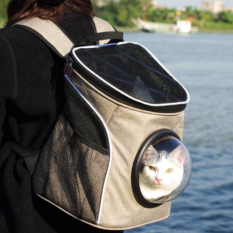 Comfort Dog Carrier Bags Travel Pet Cat Breathable Mesh Backpack Bag Portable Double Shoulder Outdoor In Carriers From Home Garden On