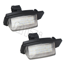 2xLED License Plate Lamp 18 LED For Mitsubishi OUTLANDER 11/2006-8/2009/ XL(CW) 2006-2012 Car Auto Part Accessories