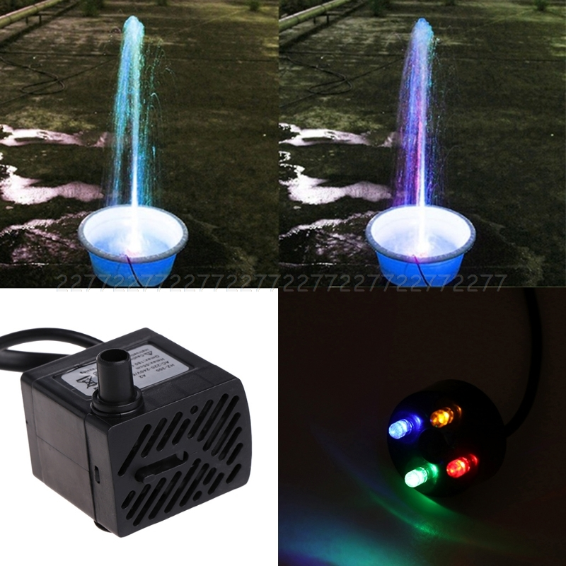 Pumps (water) Fish & Aquariums Able Led Color Changing Submersible Water Pump Fountain Maker For Aquariums