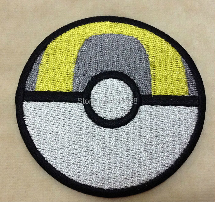 POKEMON POKEBALL Large Embroidered Iron On Patch Big Badge Sew On Boys Game