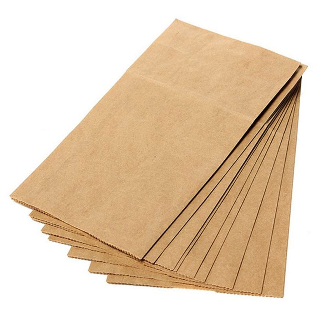 10pcs/set Biscuits Packaging Wrapping Supplies For Party Wedding Favors Handmade Bread Cookies Gift Brown Kraft Paper Bag