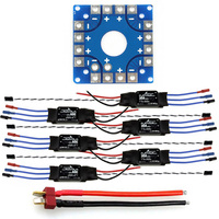 F04997 B JMT Assembled Kit: 30A ESC + KK ESC Connection Board Connectors Dean T Plug Wire for 6 Aix Drone Hexacopter