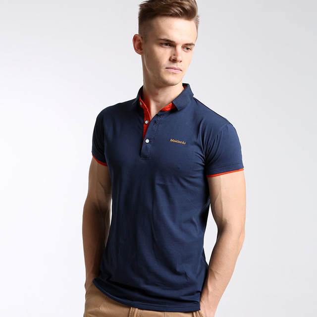 Мужская марка поло твердые Поло-рубашки мужчин хлопка С Коротким Рукавом мужская Рубашка Поло 2016 Мужская роскошные Высокое качество Топ